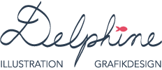 delphine illustration logo